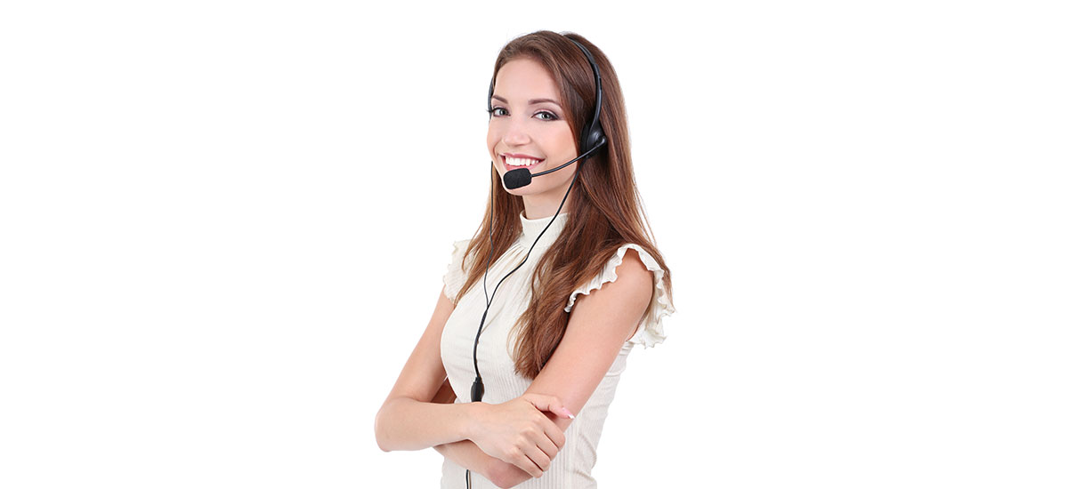 An attractive call centre woman.