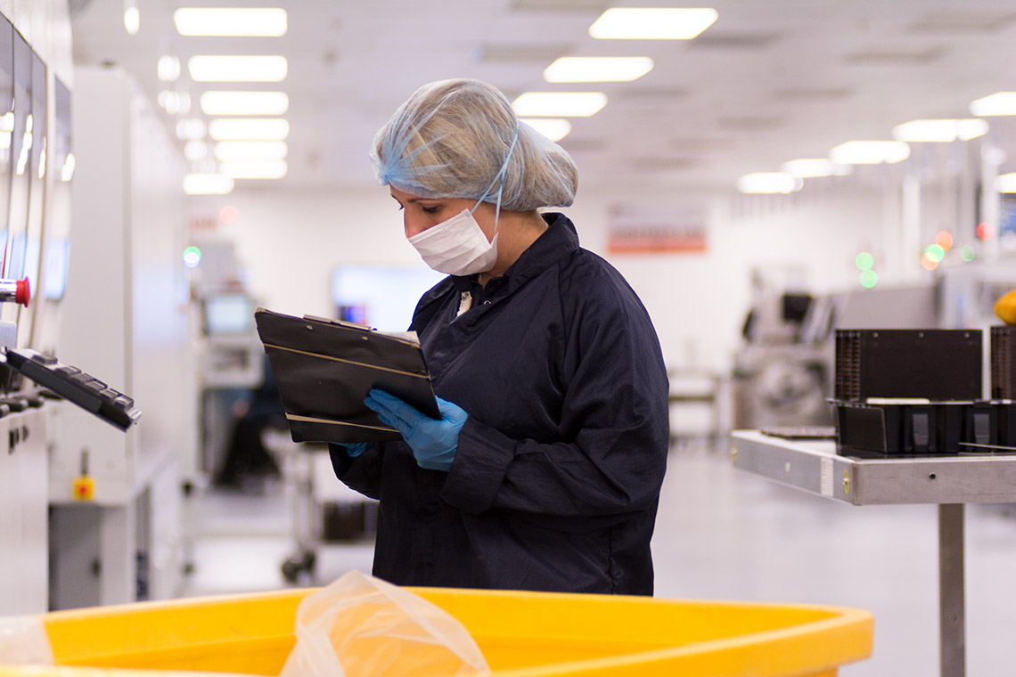 FSG cleaner auditing on factory floor