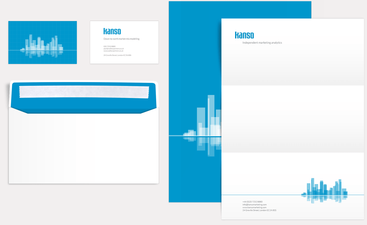 Kanso Marketing business cards