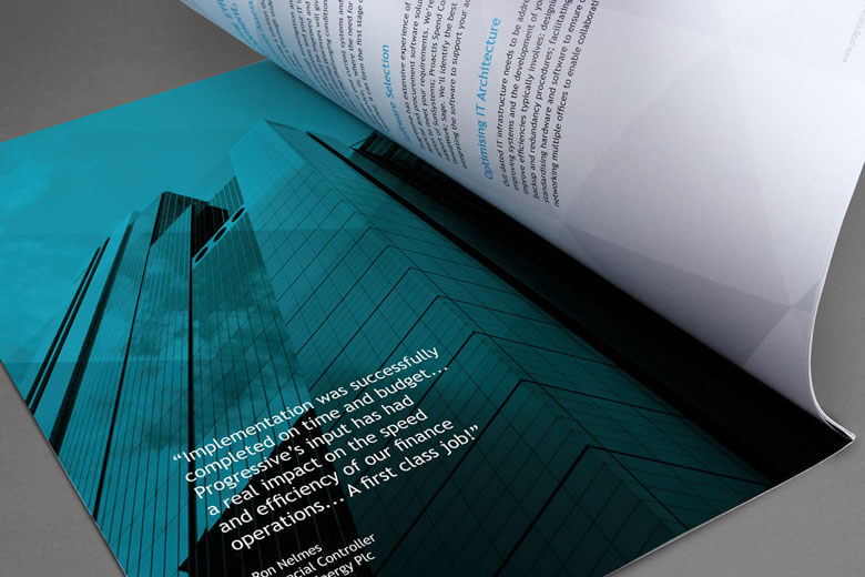 Example of Progressive brochure design