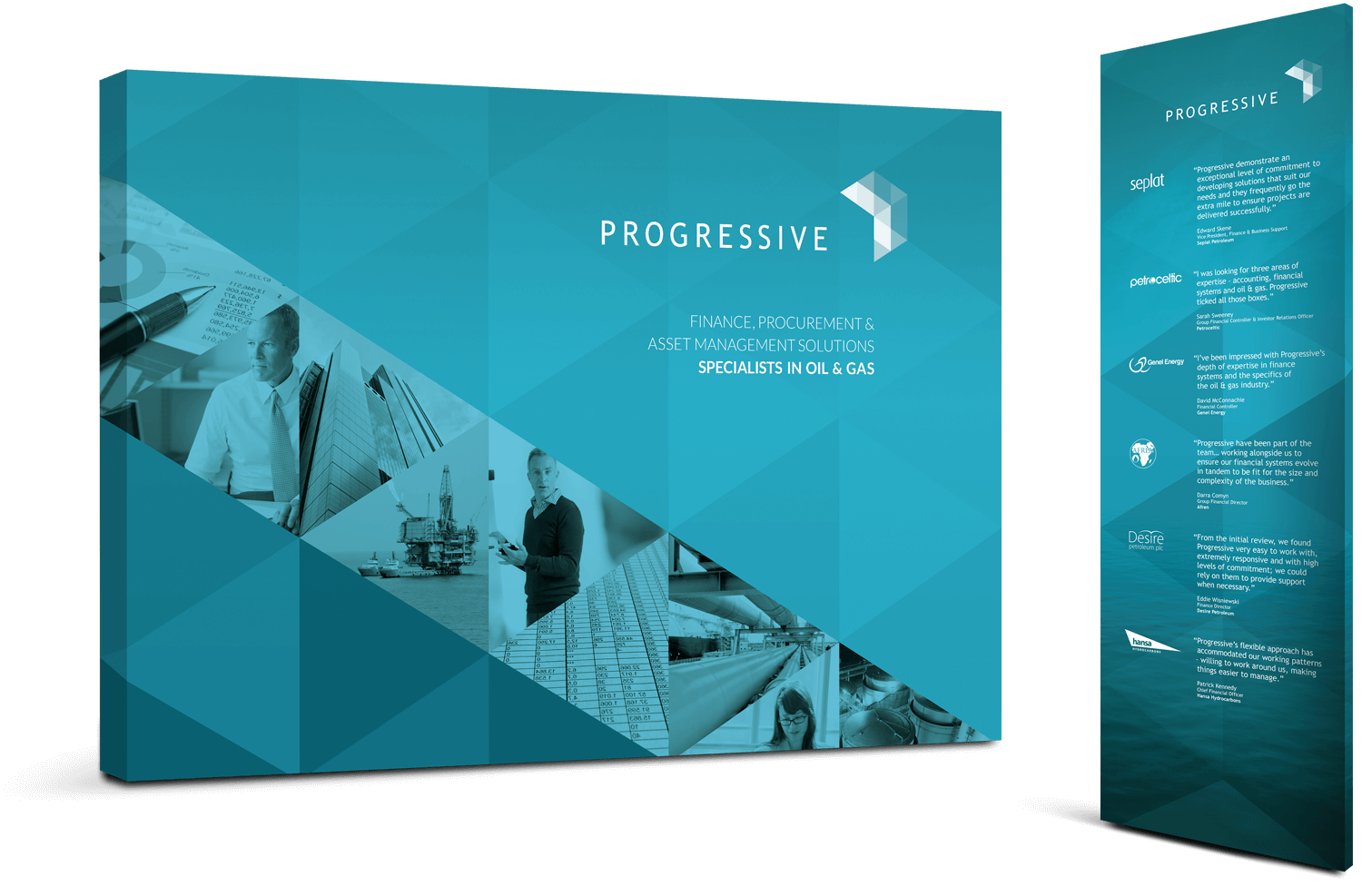 Examples of branded Progressive exhibition stands