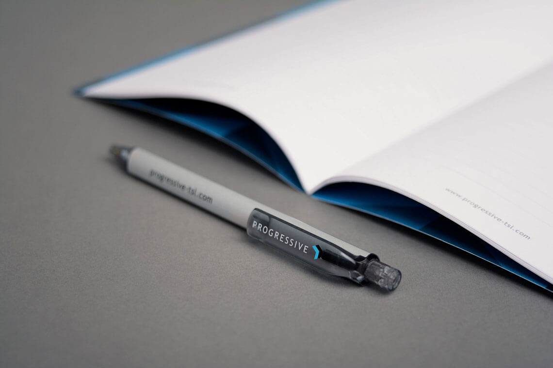 Example of Progressive branded pens