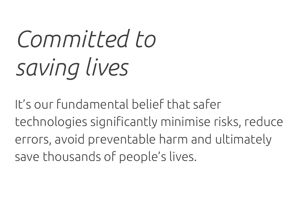 Committed to saving lives (text)