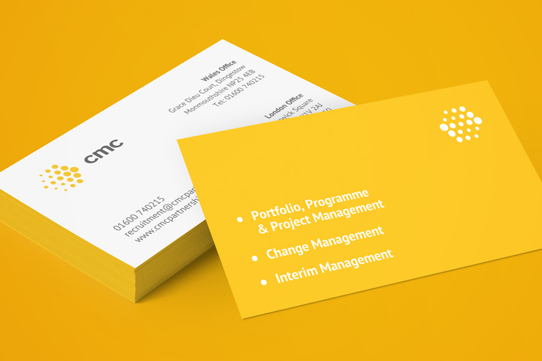 Front and back of CMC business cards