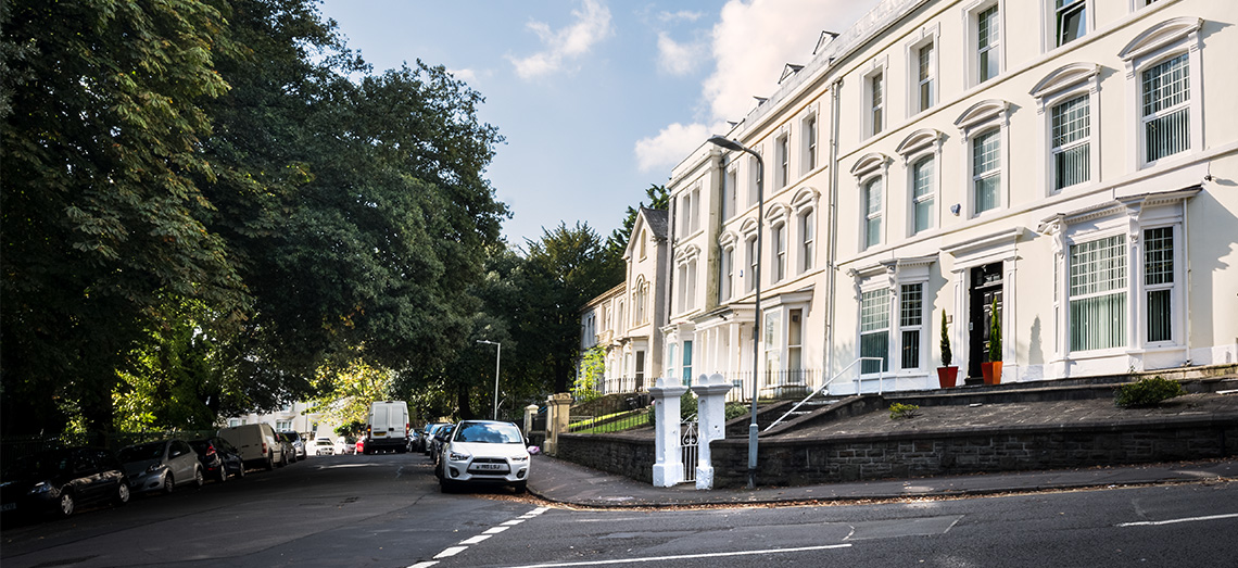 Exterior shot of James Good office in Swansea