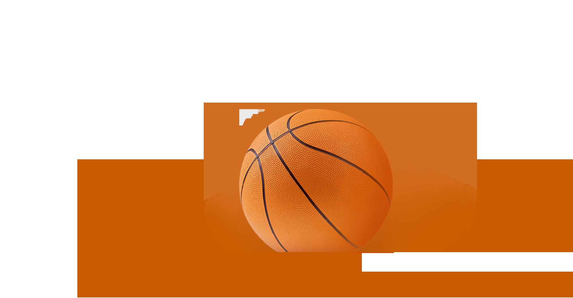 Basketball to represent social sports gaming