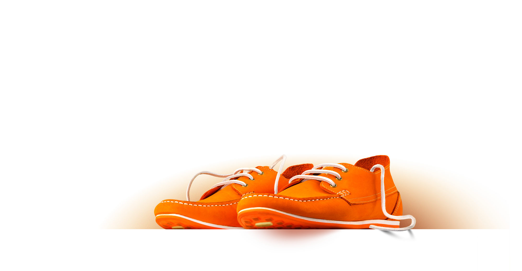 Orange shoes representing brand definition.