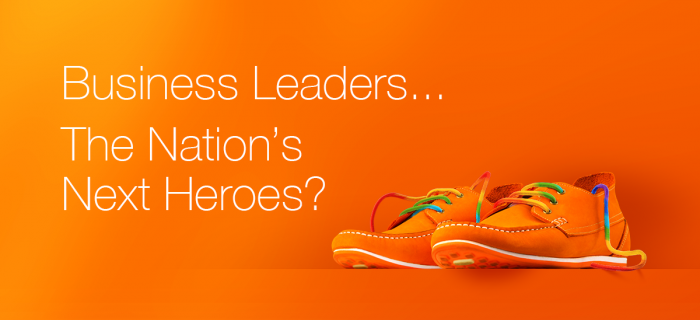 Business Leader Hero Shoes with Rainbow Laces