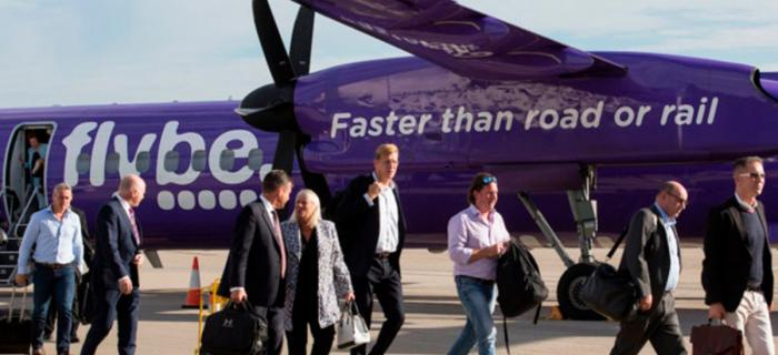 Flybe capitalise on rail disruption