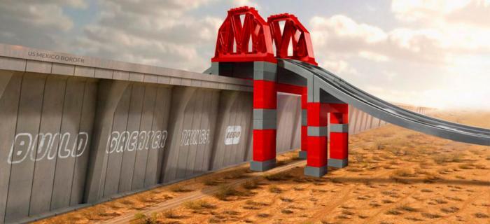 Lego Bridge of Trump's Mexico Wall