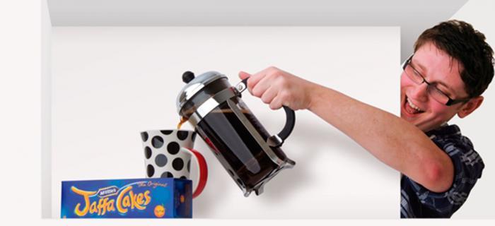 Darren pouring Coffee