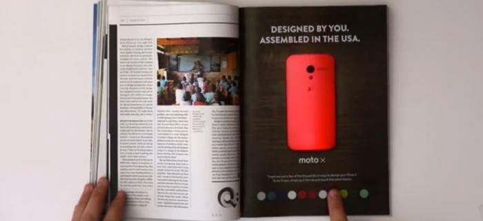 Moto X Advert