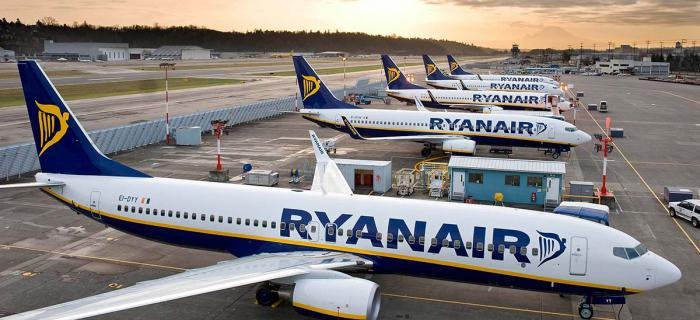 Ryanair Planes On A Runway