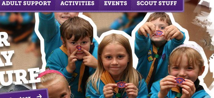 ScoutsWales website design