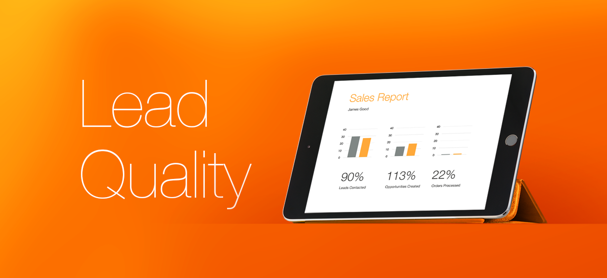 iPad showing a dashboard that reports quantity and quality.