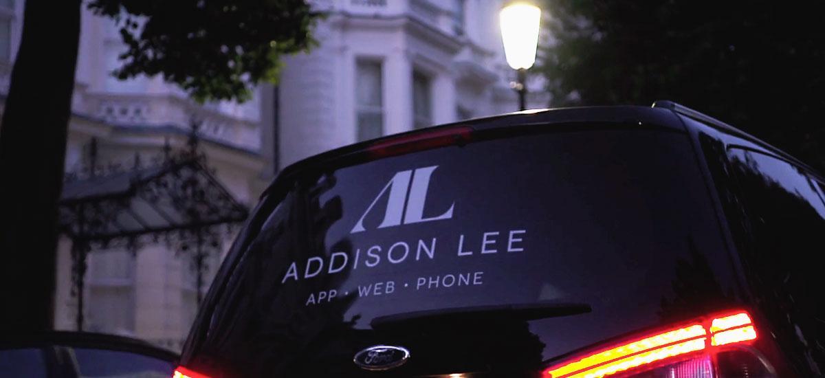 New adison lee branding on side of a van