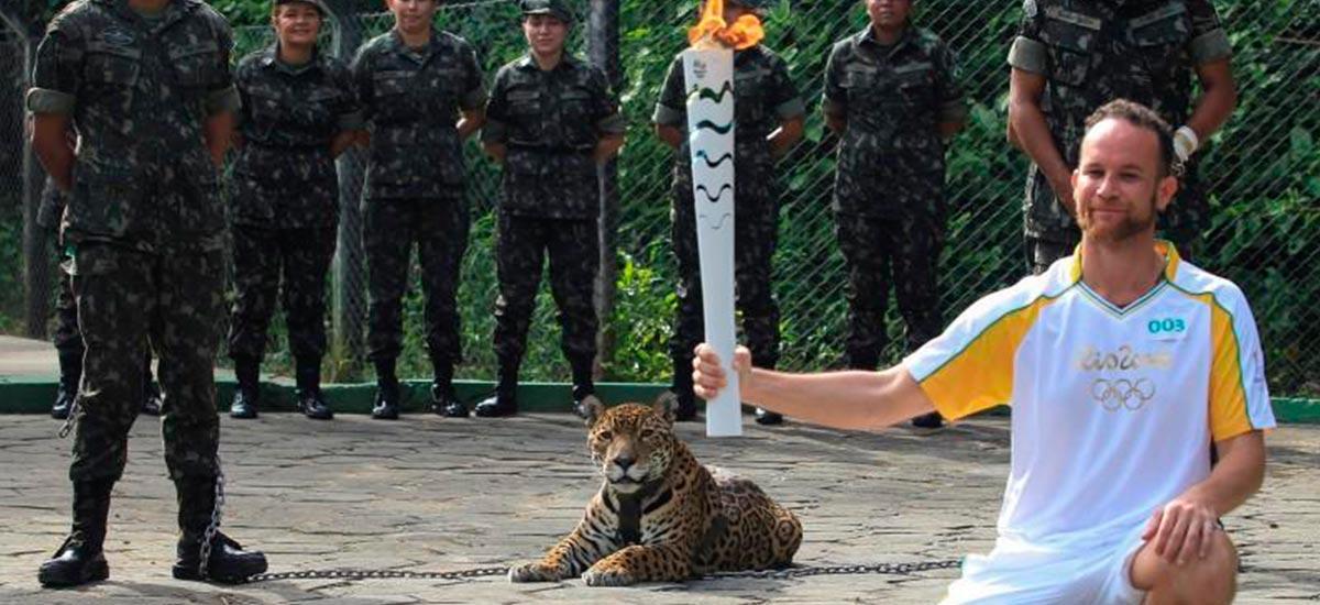 Jaguar at Rio Olympics Torch Ceremony