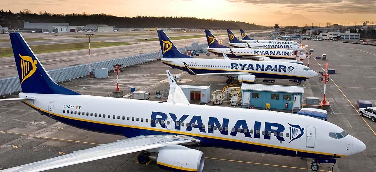 Ryanair Planes On A Runway