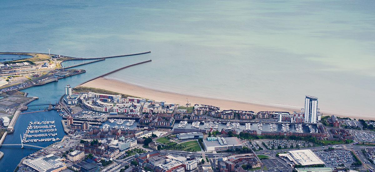 Swansea Bay from the air