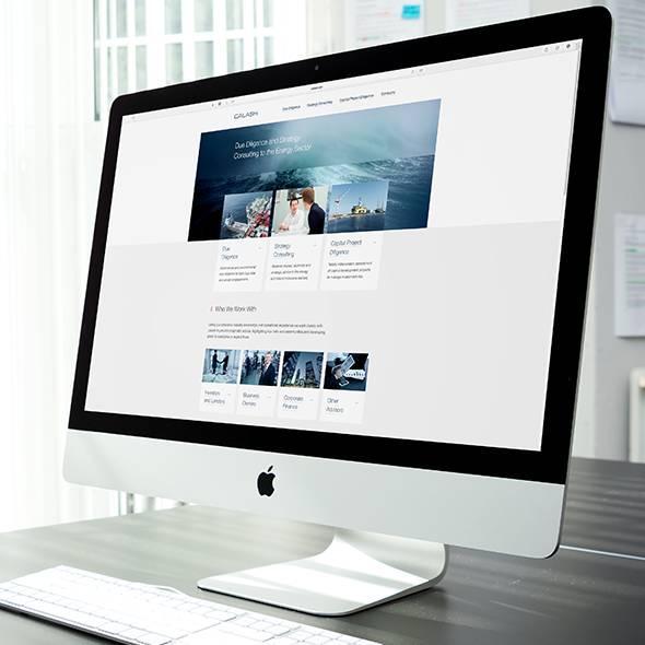 Calash website on a desktop computer