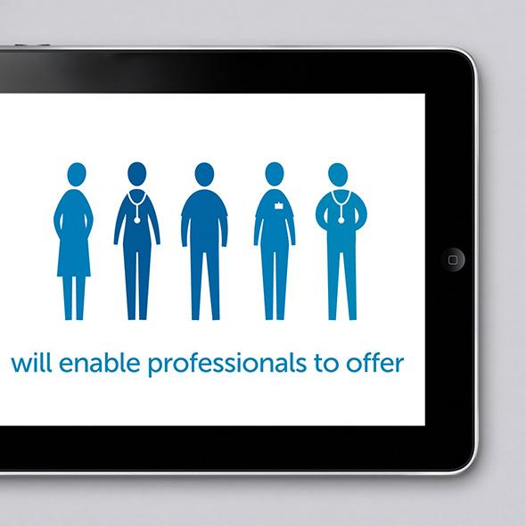 Tablet showing eHealth animation design
