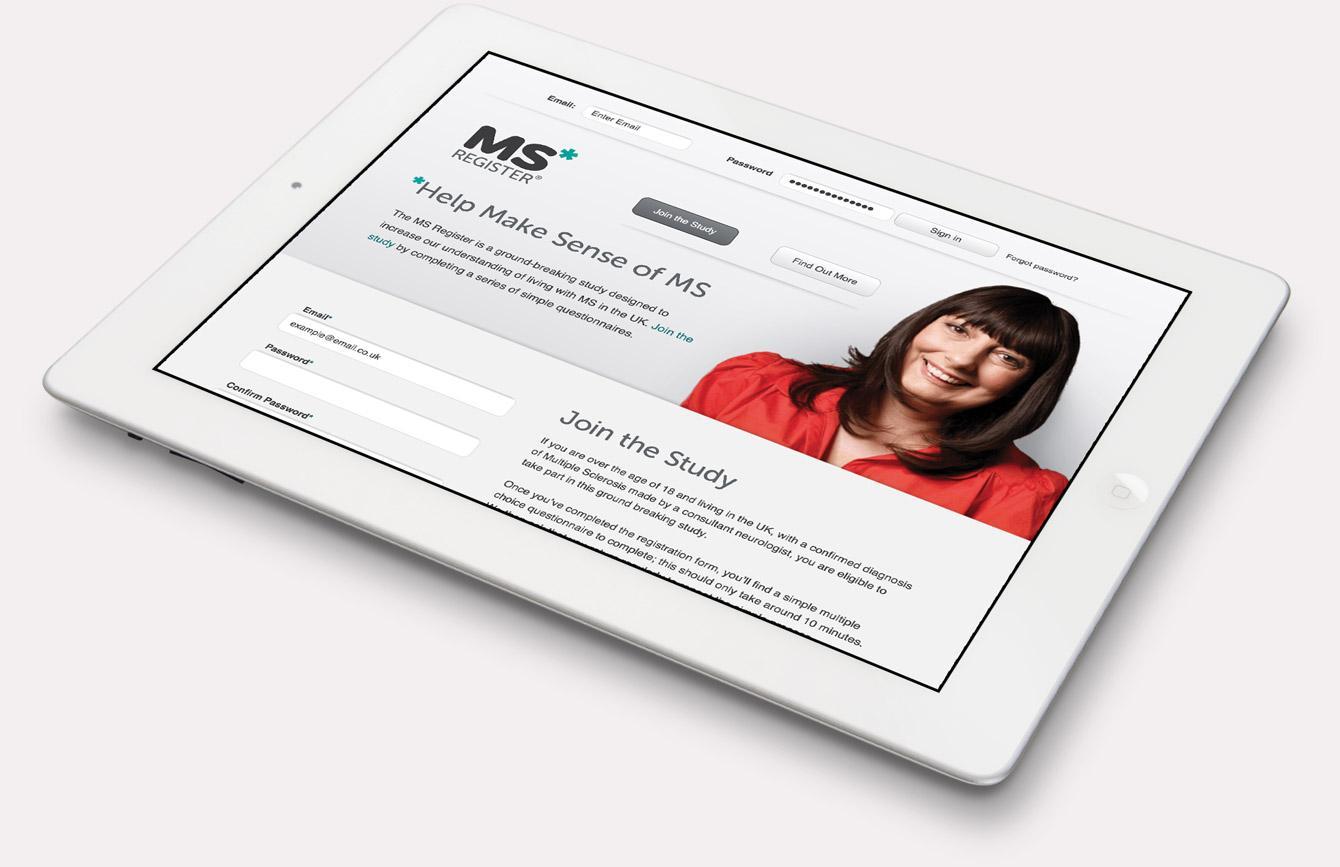 MS Register Website - Tablet